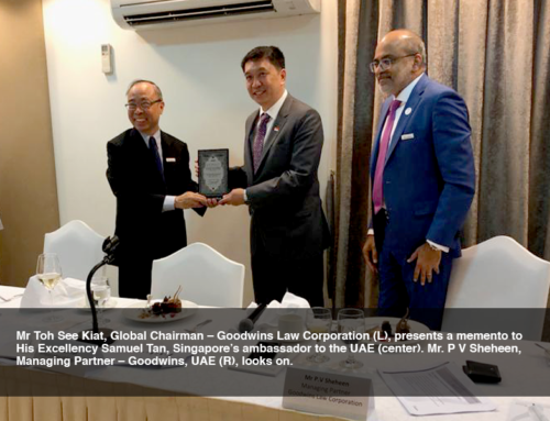 SINGAPORE EMBASSY HOSTS AN EXCLUSIVE LUNCHEON FOR GOODWINS